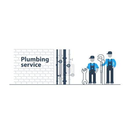 Plumbing services workers