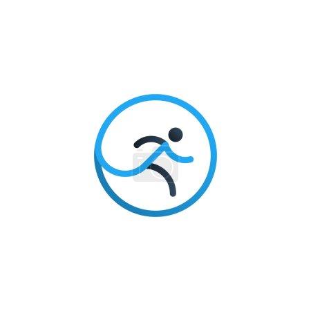 Running logo, sport concept