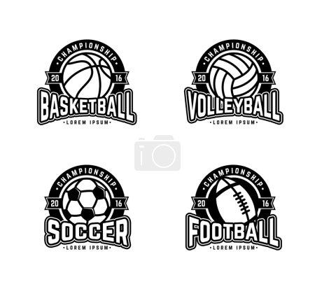 Four sports bw
