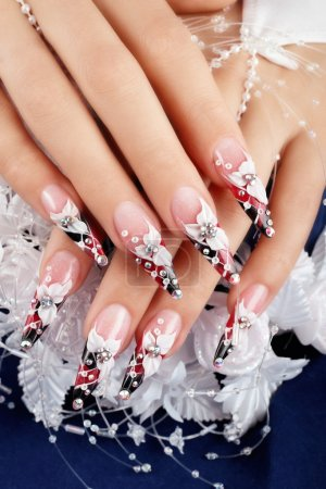 Wedding design  nails.