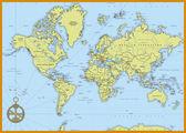 Podrobná mapa politického světa