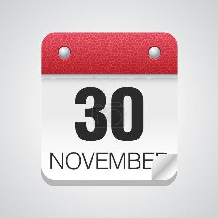 Simple calendar with November 30