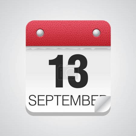 Simple calendar with September 13
