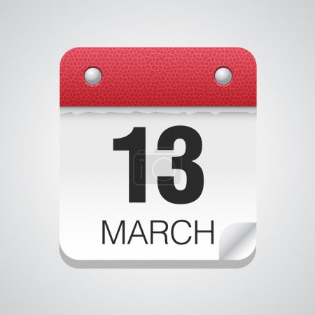 Simple calendar with March 13