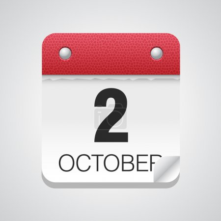 Simple calendar with October 2