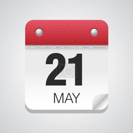Simple calendar with May 21