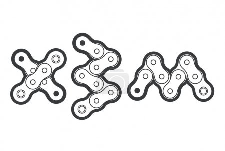 Extreme bicycle chain typography. Vector logotype ...
