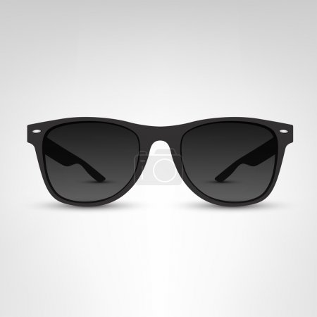 Illustration for Black sunglasses on white background vector illustration. - Royalty Free Image