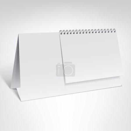 Spiral calendar template
