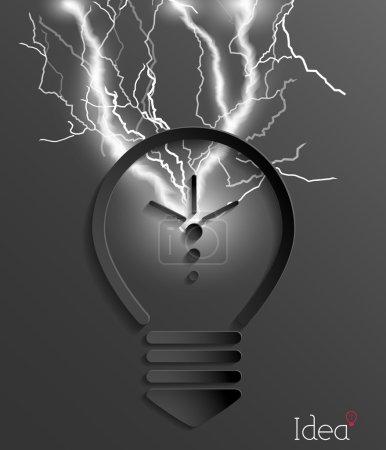 Light bulb with lighting