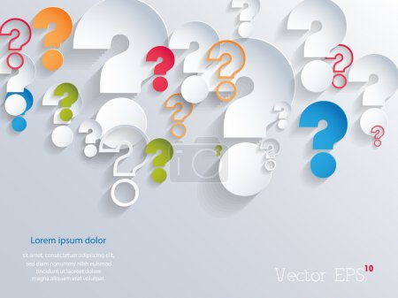 Random colorful 3d question marks background