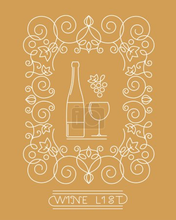 Wine glass and bottle symbol.