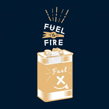 Photo for Fuel to fire canister vector - Royalty Free Image