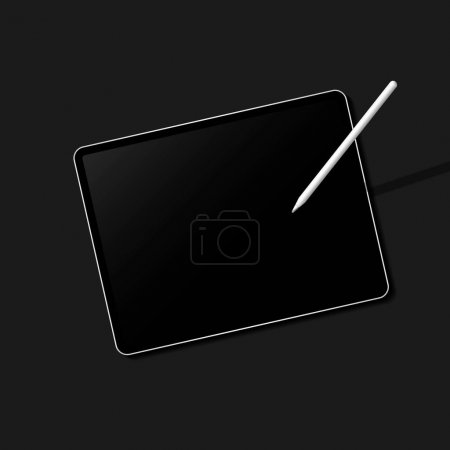 Photo for Digital modern tablet screen mockup - Royalty Free Image