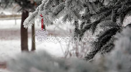 Winter Scene  - Christmas Season and decorations.