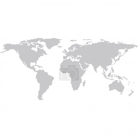 Dots Grey World Map. Modern vector Illustration...