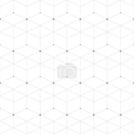 Illustration for Abstract geometric pattern dot with rhombuses. Repeating seamless background vector illustration - Royalty Free Image