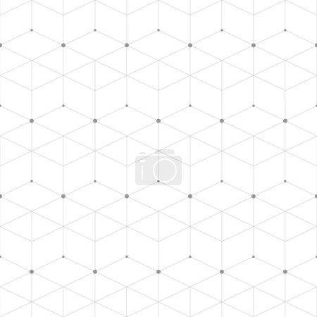 Ilustración de Punto patrón geométrico abstracto con rombos. Ilustración de vector de fondo sin fisuras de repetición - Imagen libre de derechos