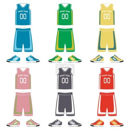 Basketball uniform icons