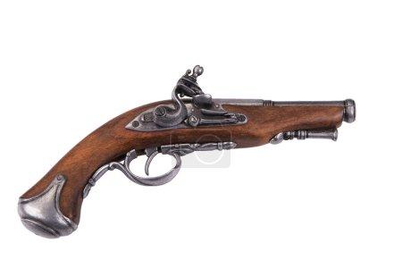 Photo pour Vieux fusil isolé sur fond blanc - image libre de droit