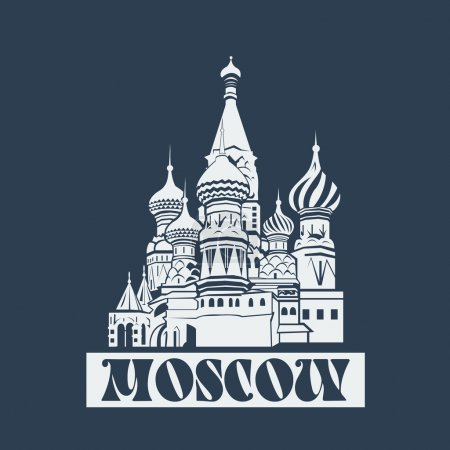 Vector Moscow Saint Basils Cathedral