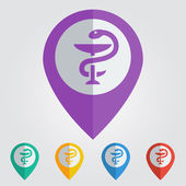 pharmacy symbol map pin