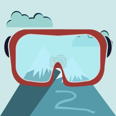 Ski Goggles With Mountain View, Ski mask