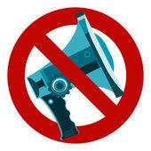 Do not speak icon The symbol of the megaphone
