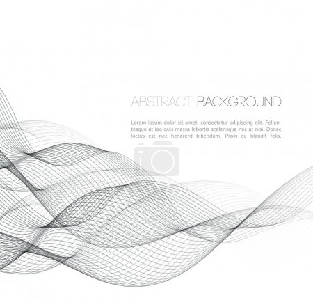Illustration for Vector Abstract curved lines background. Template  design - Royalty Free Image