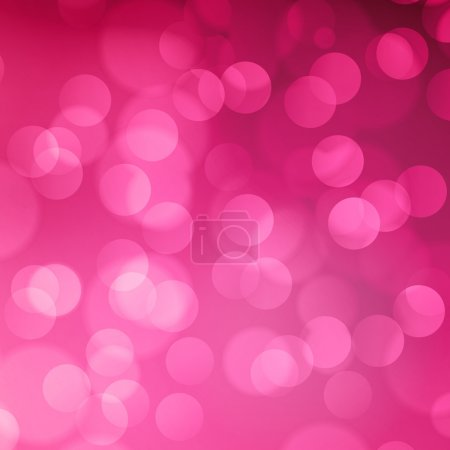 Illustration for Pink bokeh abstract light background. Vector illustration - Royalty Free Image
