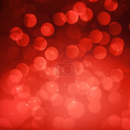 Red bokeh abstract light background. Vector illustration