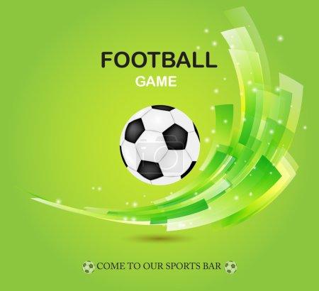 Creative football vector design on green background.
