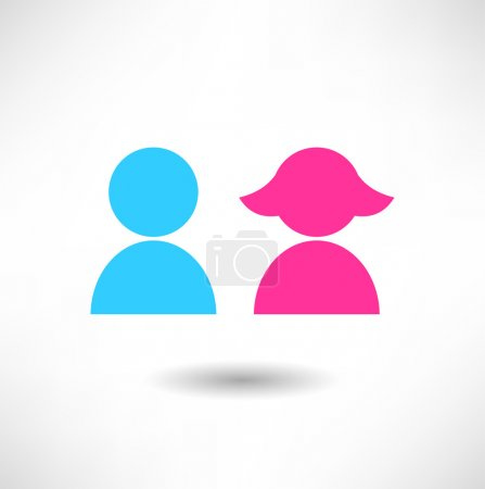Boy and girl icon