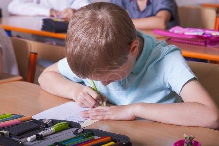 Pupils take a test