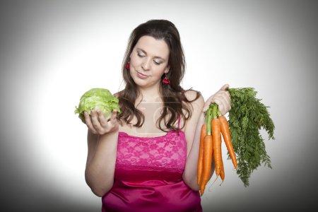 Lettuce or carrots