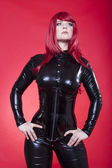 Frau in latex