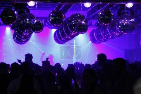 Nightclub Disco dancing people excited