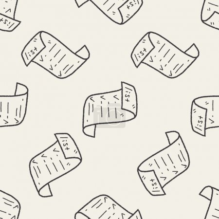 invoice doodle seamless pattern background
