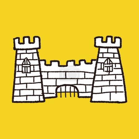 castle doodle