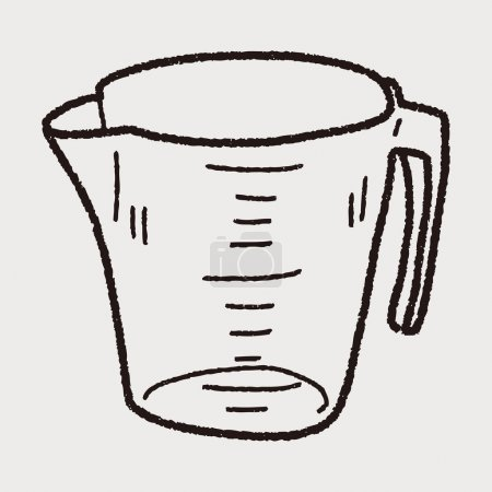 measuring cup doodle