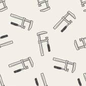 Měřicí nástroje doodle bezešvé pozadí