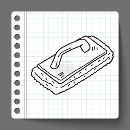 cleaning tool doodle