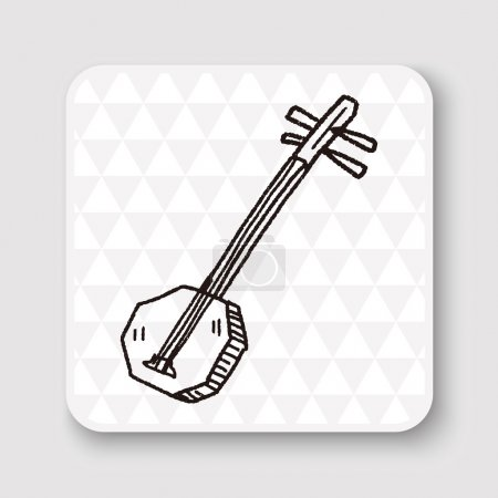 Banjo doodle vector illustration