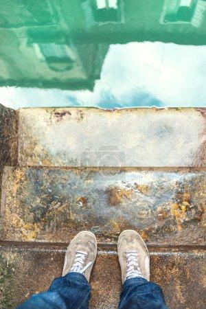 Photo pour Rues d'eau dans la venise - image libre de droit