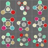 Big collection of infographic templates for business with 3 4 5 6 and 7 options or steps Metaball can be used for diagram graph presentation and chart