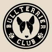 Bull terrier face Bull terrier club badge