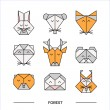 Постер, плакат: Animals forest origami 11