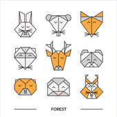 Animals forest origami 11