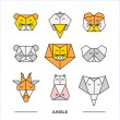 Постер, плакат: Animals jungle origami 11