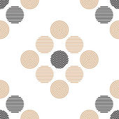 Christmas black and gold pattern consisting of circles in a linear fashion